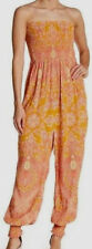 Free People OB770133 Thinking Of You Printed Strapless Jumpsuit in Yellow Combo