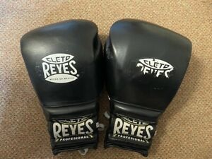 Cleto Reyes BLACK leather 16oz lace Sparring Gloves