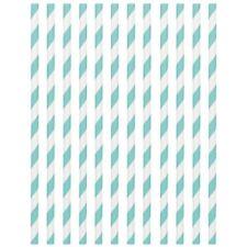 Stripe Paper Drinking Straws Blue Deluxe Vintage Retro Birthday Wedding UK 24