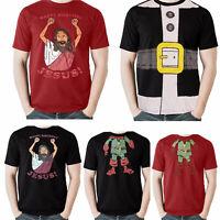 Mens Christmas  T Shirt  Novelty Print Explicit Top Funny Rude Joke Xmas Gift