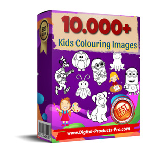 🔥 10.000+ Kids Colouring Images, Activities & Stamped Images + BONUSES Download