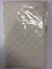 Samsung Galaxy Tab 3 8.0 Plaid Leather Case White ALC6516-141 Brand New Original