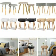 2pcs Bedside Tables Cabinets Unit Side Table Bedroom Furniture Chest Of Drawers