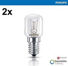 2 x 15w Philips E14 SES Cooker Oven Lamp Light Bulb 300oC Degrees High Quality