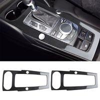 For Audi A3 2014-2019 Carbon Fiber Center Console Gear Shift Panel Frame Cover