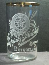 Pre-Pro Acid-Etched GOLD RIM Beer Glass KOPPITZ-MELCHERS Brewing,Detroit,NR MINT