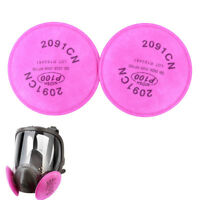 2Pcs 2091 Particulate Filter P100 5000 6000 7000 Series Facepiece HV