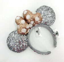 Rose Gold Silver Sequins Limited Party Disney Parks 2020 Polka Dot Ears Headband