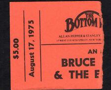 Original 1975 Bruce Springsteen concert ticket stub Bottom Line Born To Run RARE
