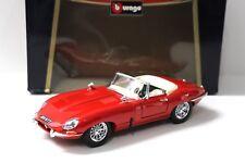 1:18 Bburago Jaguar E-Type Cabriolet 1961 red NEW bei PREMIUM-MODELCARS
