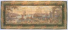 "Old Italian Port Large Medieval Venice Tapestry Marina 29""x65"""