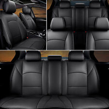 "US Top PU Leather Seat Cover For Ford F-150 2010-2016 Front+Rear Black ""EGD"" Set"