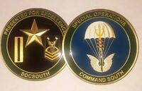 REAL Navy Special Operations Command South SOCSOUTH Commander's Challenge Coin