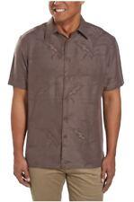 Mens Woody's Retro Lounge Short Sleeve Button Aloha Shirt Coffee Large