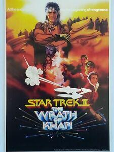 2018 Star Trek II: The Wrath Of Khan Poster Design 35 gram Silver Foil Poster