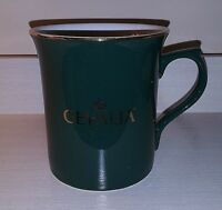 """Gevalia"" Coffee Mug Hunter Green Dark Green with Gold Trim"