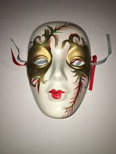 Mardi Gras Carnival Hand Painted Wall Decor Mask, Great Condition!!!