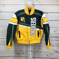 NFL Green bay Packers Boys Embroidered Zip Front Jacket Size Large