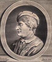 Portrait XVIIIe Philippe III Le Hardi Roi France Capétiens Philip III of France