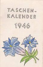 Art Drawings Humor Wunderschöner Handgemalter Taschenkalender 1946 Kunst Blumen Malerei Deko