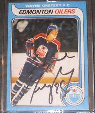1979 O-Pee-Chee WAYNE GRETZKY Signed Hockey Card Edmonton Oilers READ LISTING