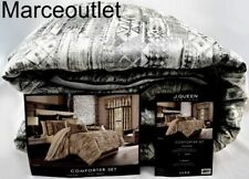 J. Queen New York Brandon Full / Queen Comforter, Shams & Skirt Set Graphite