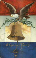 Ellen Clapsaddle - 4th Fourth of July Eagle Liberty Bell c1910 Postcard