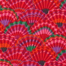 Rowan Kaffe Fassett Paper Fans Cotton Fabric PWGP143 Red Limited Edition BTY