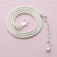 Silver /P Snake Chain Necklace Fit European Charm Beads With Lobster Clasp 10PCS