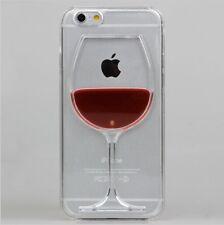 Rouge Bordeaux Arrière Rigide Boîtier Transparent iPhone 4/4s 5/5s/SE/5c/6/6s/