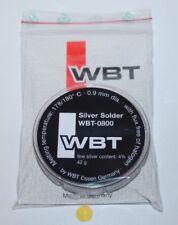 WBT 0800 Silver Solder silber Lötzinn Silberlot 42 Gramm auf Spule Neu