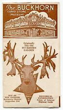 """Old Brochure: """"The Buckhorn Curio Store (Museum)"""" - San Antonio, Texas"""