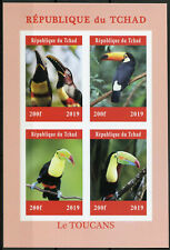 More details for chad 2019 mnh toucans toucan 4v impf m/s bird birds stamps