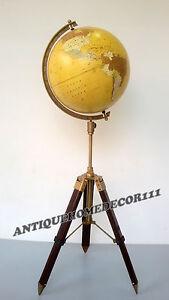 Vintage Office Home Decor Replogle Globe World Classic Series Raised With Tripod