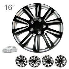"FOR TOYOTA NEW 16"" ABS BLACK RIM LUG STEEL WHEEL HUBCAPS COVER 546"