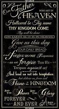 Lords Prayer Faith Faithful Religious Fabric Panel 23