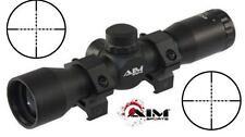 AIM 4x32 Compact Mil-Dot Rifle Scope W/ Rings Fits Picatinny Weaver Rails