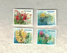 4 1988 NEW ZEALAND FLOWERS STAMP MNH