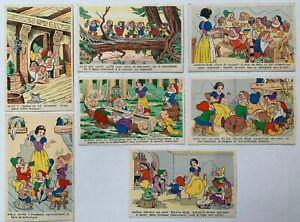 c1950 WALT DISNEY PARIS FRENCH POSTCARDS Snow White and the 7 Dwarfs WALT DISNEY