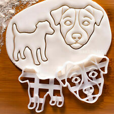 Set of 2 Jack Russell Terrier cookie cutters | Parson dogs dog birthday treats