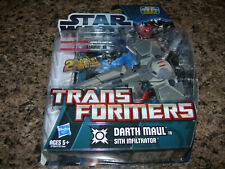 Star Wars Transformers DARTH MAUL to SITH INFILTRATOR Skill level 2 NEW 2011