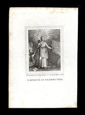 santino incisione 1800 S.ROSALIA DI PALERMO
