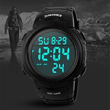 Sport Digital Running  Diving Black Men Big Face Wrist Watch Watches