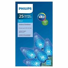 Philips 25 Faceted C9 Blue Lights LED New