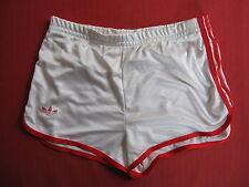 Short Adidas Blanc et rouge Polyamide Nylon vintage Retro années 80 - 46