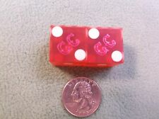 "#6 of 30, Pair Of Old Vtg Casino Used Dice - ""Gold Coast"" Red With White Dots"