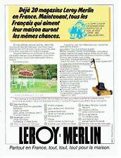 PUBLICITE ADVERTISING 027  1987  salon de jardin & tondeuse Leroy-Merlin