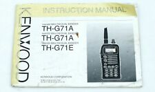 Kenwood TH-G71A instruction manual booklet