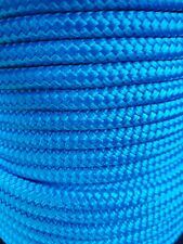 12MM Double Braided Rope Polyester Yacht Rope 25MTS Blue
