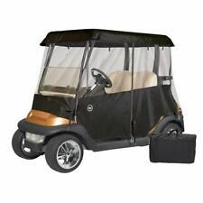 Greenline 2 Passenger Drivable Universal Heavy Duty Golf Cart Enclosure - Black